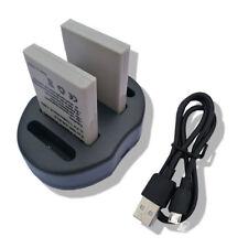 2x EN-EL5/CP1 Li-on de la Batería + Cargador USB para Nikon CoolPix 5900 7900 P5000 P530