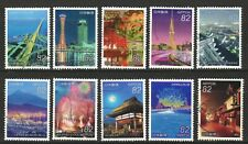 JAPAN 2017 JAPANESE NIGHT VIEWS SERIES NO. 3 COMP. SET OF 10 STAMPS IN FINE USED