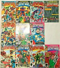 MARVEL SUPER HEROES SECRET WARS#1-12 VF LOT (11 BOOKS)1984 MARVEL COMICS
