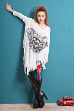 ❤Bohemian Glitter Skull Shirt Top❤Japan Korean Fashion Funky Blouse Soho S M L