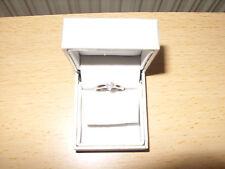 Womens engagement ring 9 carat white gold & 0.25 carat diamond