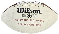 49ers Super Bowl XVI (34) Walsh, Clark Signed White Panel Football BAS #A57182