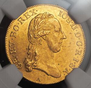 1787, Austria, Emperor Joseph II. Beautiful Gold Gold Ducat Coin. NGC MS-60!