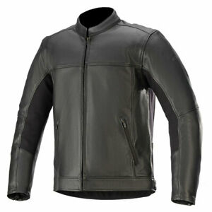 Alpinestars Topanga Motorbike Motorcycle Leather Jacket Black