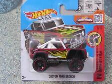 Hot Wheels 2016 #153/250 CUSTOM FORD BRONCO red HW Daredevils Case D