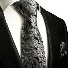 Schwarze Krawatten Set 2tlg 100% Seidenkrawatten 627