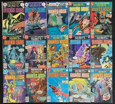 Secrets of Haunted House #1-33 range; comic lot of 15 (DC 1975) Horror; Avg. 6.5
