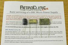 Acorn BBC Micro y Master 128 Reemplazo Tapa Kit De Alta Calidad Con Guía