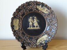 c.19th - RARE Antique German Bohemian Johann Maresch Pottery Plate Plaque No.14