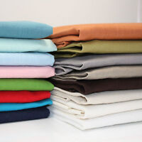 WASHED 100% LINEN FABRIC - ALL COLOURS - 140CM  WIDE DRESSMAKING Bio