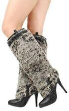 Faux Fur Stiletto Furry Faux Fur Knee Heel Boots #Magpie-s