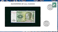 Banknotes of All Nations West Germany 1980 5 Mark P 30b UNC prefix B