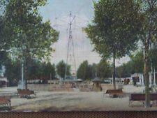 Rare 1907 Postcard Amusement Electric Park Swing Ice Cream Kansas City Missouri