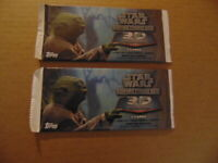 2010 Topps Star Wars The Empire Strikes Back 3D Trading Cards 2 Pack Lot NEW