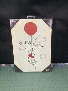 """up up and away pooh canvas wall art 7""""x10"""""""