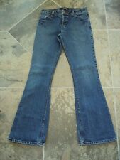 Women's Levi Strauss Signature Low Rise Flare Jeans Button Fly 7