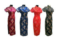UK Stock Size 6 to 22 Chinese Long Evening Party Vintage Dress Cheongsam Qipao