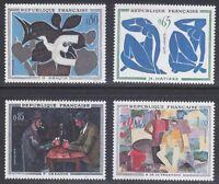 France 1961 MNH Mi 1372-1375 Sc 1014-1017 Matisse,Braque,Cezanne,La Fresnaye **