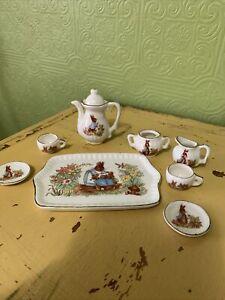 Peter Rabbit Mini Tea Set Unmarked Missing Lid To Sugar NUC