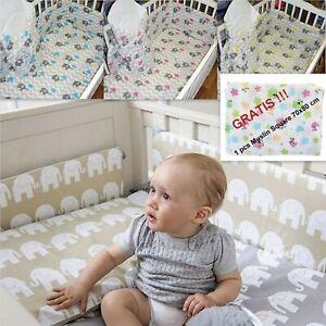 5-10 Pcs Baby Nursery Bedding Set fit Cot 120x60 or Cot Bed 140x70cm + GRATIS!!!