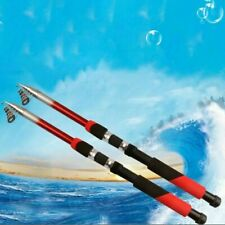 Strong Carbon Fiber Telescopic Fishing Rod Reel Sea Travel Spinning Pole US