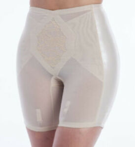 New Custom Maid Extra Firm Control Long Leg Girdle with 6 garters Beige XL