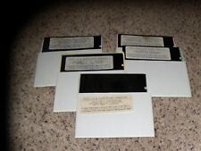 Lot of 5 Commodore 64 C64 Disks