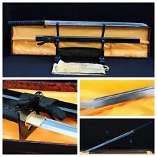 FOLDED STEEL BLADE JAPANESE SAMURAI SWORD NINJA MATACH KATANA SHARP FULL TANG