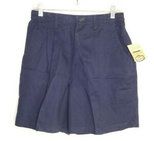 NWT Lee casuals womens navy wrinkle free side elastic shorts size 12P vintage