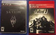 PS3 / Sony Playstation 3 Games - The Elder Scrolls V: Skyrim PLUS Fallout 3