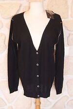 Gilet noir neuf taille L marque Diplodocus 100% laine étiqueté à 139€