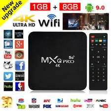 UK TV BOX SMART Android 9.0 2019 4K MXQ Pro 5G WiFi Quad Core 3D Media Player