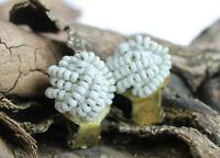 Vintage 50er  Ohrringe Ohrclips Perlen Kunststoff Modeschmuck