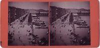 Amburgo Germania Foto Stereo Vintage Albumina Ca 1880