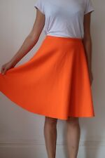 Orange Knee Length Skirt Size 12 TOPSHOP Bright Circle F