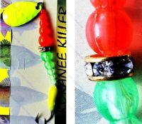 Macks Flo Orange & Chartreuse Blade - Size 6 Glo Hook - KOKANEE KILLER Spinner