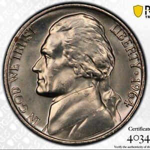 1964 Jefferson Nickel  PCGS MS66FS  Registry quality  Gold Shield
