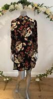 Atmosphere Dress Floral Size 8,12,16,18  Black Floral Tie Neck Long Sleeve EZ90