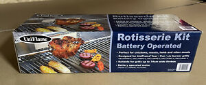 UniFlame Rotisserie Kit Battery Operated BBQ Barbecue Tool Spit Roast New In Box