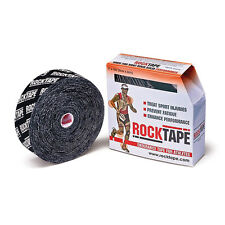 "ROCKTAPE 2"" X 105' ROLL BLACK WITH LOGO"