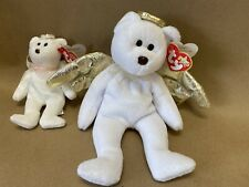 (2) Ty Beanie Babies/ Jingle Beanies Halo Ii Brown Nose Beanbag Plush Angel Toys