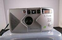 Retro NIKON NUVIS A20 APS Compact Film Camera 35mm - 25mm lens + case + manual