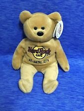 "Hard Rock Cafe Atlantic City Bear Plush 8"" Stuffed Animal Isaac Beara Brown"