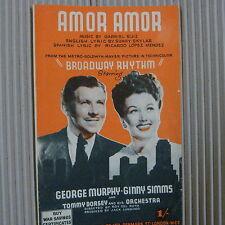 "Foglio CANZONE quantità in USD: ""Broadway RITMO"" George mrphy Ginny Simms 1941"