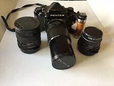 New ListingPentax 67 Medium Format Film Camera 2 Extra Lens -grip-bracket Strap-etc