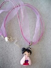 COLLANA CIONDOLO IN FIMO FATTO A MANO BAMBOLINA BABY MULAN NECKLACE