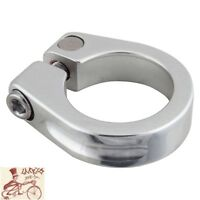 SUNLITE ALLOY 28.6mm SILVER BICYCLE SEAT POST CLAMP