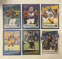 2020 Donruss Jalen Hurts Jake Fromm Rated Rookie Blue Press Proof SP Green Lot