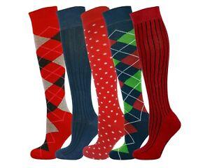 Mysocks Unisex Knee High Multiple Pattern 5 Pair Socks Box