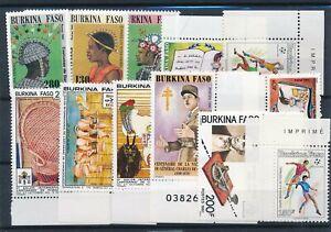 [15898] Burkina Faso : Good Lot of Very Fine MNH Stamps
